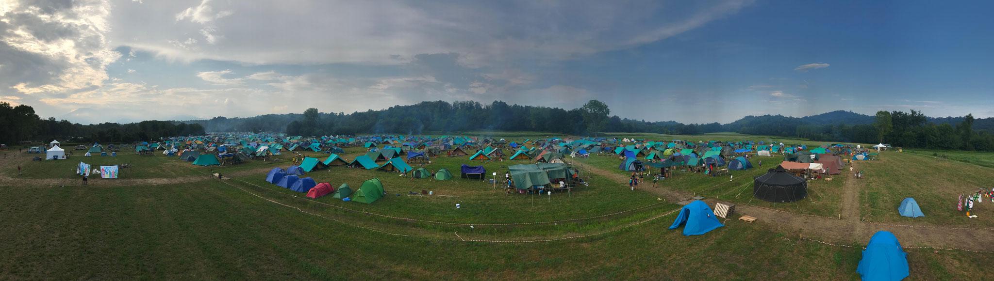 foto aerea CN2018 campo scout CNGEI